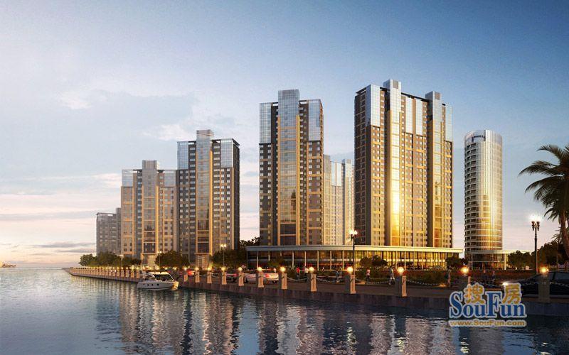 1栋国际五星级酒店式服务公寓,打造成为青岛西海岸首席领海综合体之上